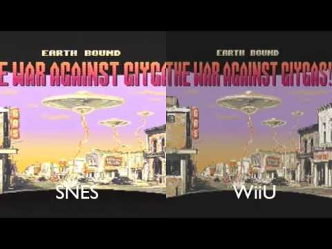 Earthbound SNES and WiiU Visual Output Comparison