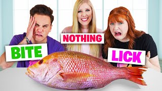 EXTREME Lick, Bite or Nothing Food Challenge!