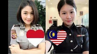 Polis wanita Malaysia vs indonesia | Beautiful