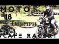 ¡¡Triumph Bonneville T100!! ¡Modificada!, Cafe Racer, Custom 79 | Motovlog #18 (Review en español)