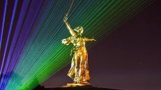 3D Mapping show  Родина Мать Зовёт! Волгоград