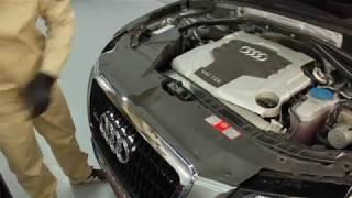 Снятие фар Audi Q5 и ремонт светодиодных ДХО