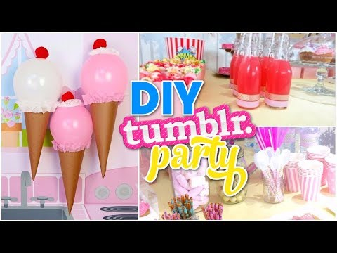 DIY Tumblr Birthday Party! Cute Decor Easy Ideas