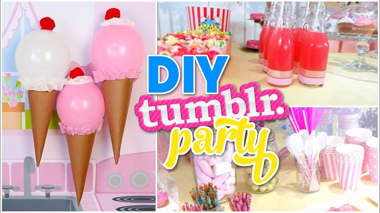 DIY Tumblr Birthday Party Cute Decor Easy Ideas YouTube