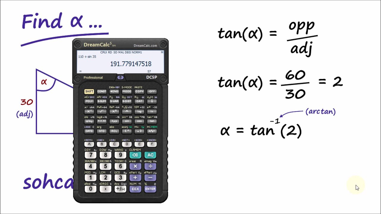 how to find inverse tangent on iphone calculator
