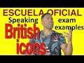 SAMPLE ENGLISH SPEAKING TEST: British Icons (monologue)