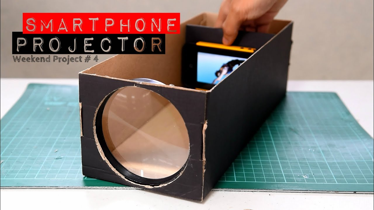 Build a smartphone projector with a shoebox youtube for What to do with old mailbox