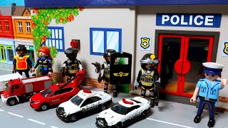 경찰차 소방차 구급차 출동! 토미카 시쿠 자동차 장난감 놀이. Police car dispatch Tomica Siku Car toys play