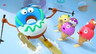 ❤ BabyBus New Cartoon Series | Donut Learns Skiing | Kids Cartoon | Yummy Foods for Kids