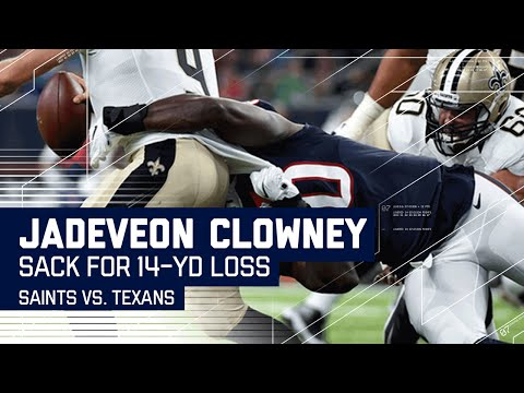 Jadeveon Clowney Sacks Brees for 14-Yard Loss! (Preseason) | Buccaneers vs. Jaguars | NFL