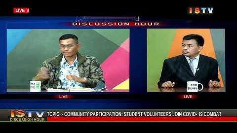 27TH  MAY'20 DISCUSSION HOUR TOPIC:-COMMUNITY PARTICIPATION:STUDENT VOLUNTEERS JOIN COVID-19 COMBAT