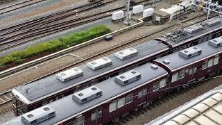 20180806 081514 新阪急ホテルアネックスより阪急梅田駅の朝のラッシュ