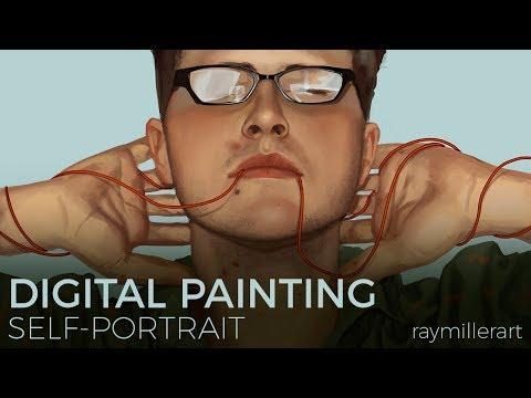 Digital Painting Timelapse | Self Portrait