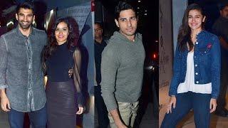 Ok Jaanu Movie Screening Full Video   Shraddha Kapoor, Aditya Roy Kapoor, Varun Dhawan