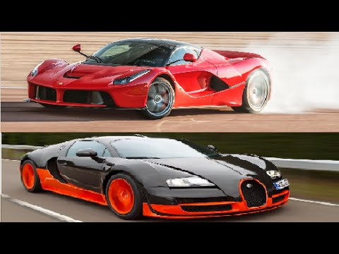 ferrari laferrari vs bugatti veyron youtube. Black Bedroom Furniture Sets. Home Design Ideas