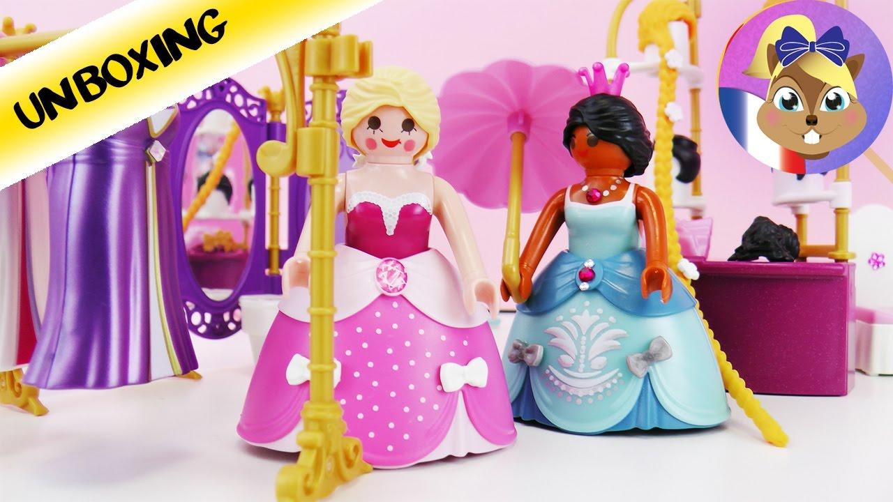 dressing playmobil et salon de beaut princess 6850 dans la chambre dune princesse unboxing - Playmobil Chambres Princesses