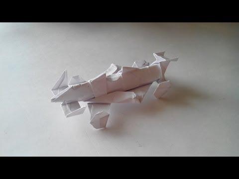 Как сделать из бумаги машину (Origami Car)