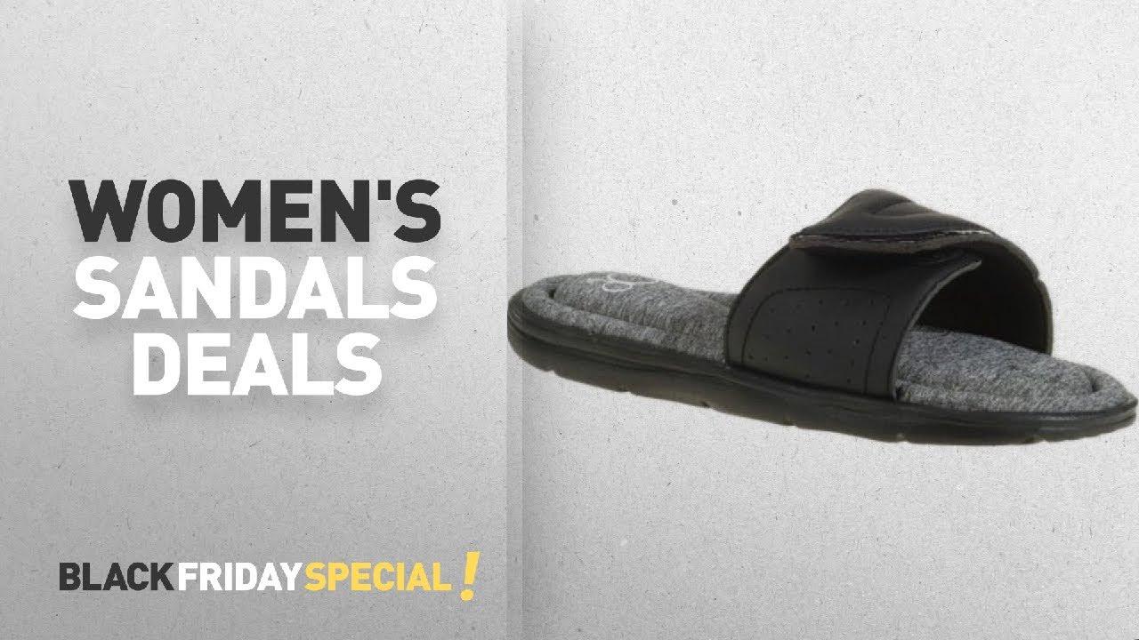 160c6d656aef Walmart Top Black Friday Women s Sandals  OP Women s Comfort Beach Slide  Sandal