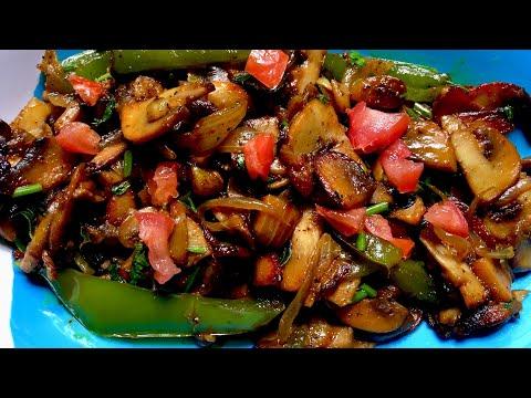 വളരെ എളുപ്പത്തിലൊരു മഷ്റൂം മസാല ഫ്രൈ  Mushroom Masala Fry  LCHF/KETO  Vegetarian Recipe Malayalam