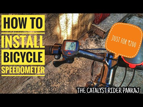 how-to-install-cycle-speedometer-in-any-cycle- -mtb-computer- -sunding-bicycle-speedometer