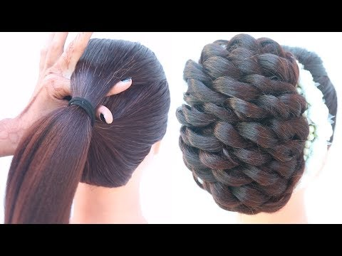 messy-french-bun-hairstyle-for-party-&-wedding-||-new-hairstyle-||-updo-hairstyle-||-easy-hairstyle