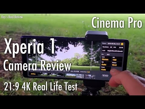 Sony Xperia 1 Camera Review - Cinema Pro - 4K 21:9 Real Life Test! Ray's Real Review