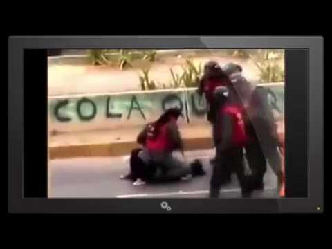 Brutal military repression in Venezuela against people for lack of food.
