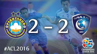 PAKHTAKOR vs AL HILAL: AFC Champions League 2016 (Group Stage) 2017 Video