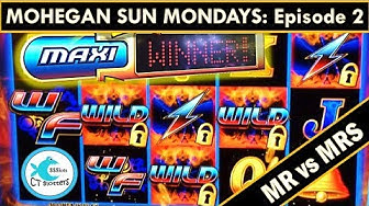 *BIG WIN* Wild Flash Slot Machine - Mrs vs. Mr on MOHEGAN SUN MONDAYS!