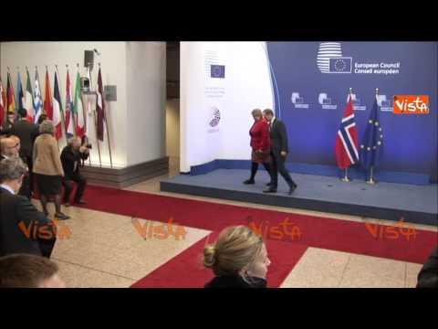 BRUXELLES TUSK INCONTRA PRIMO MINISTRO NORVEGIA 21 Gennaio 2015