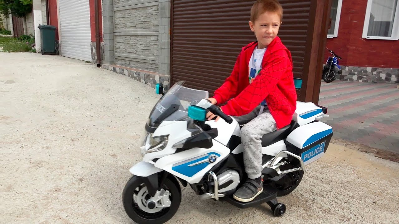 Funny Kids Ride On Bmw Police Sportbike Pocket Bike Unboxing And Assembling Surprise Children S Toys Youtube