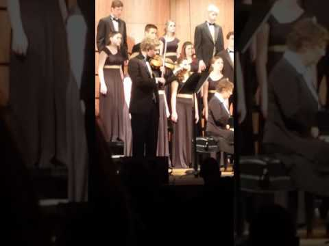 Torrin on violin with Kuna High School Chamber Choir