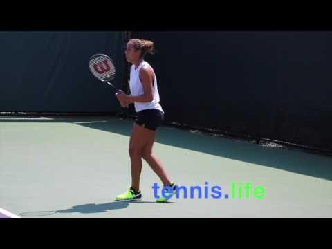 Madison Keys on the Miami practice court