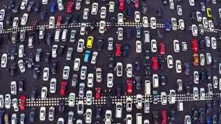 A huge traffic jam in China