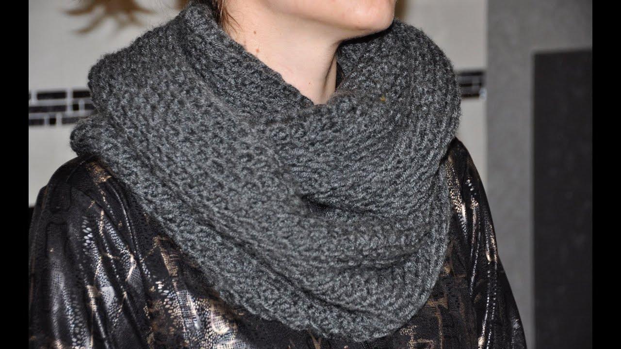 схема шарфа спицами для мужчин