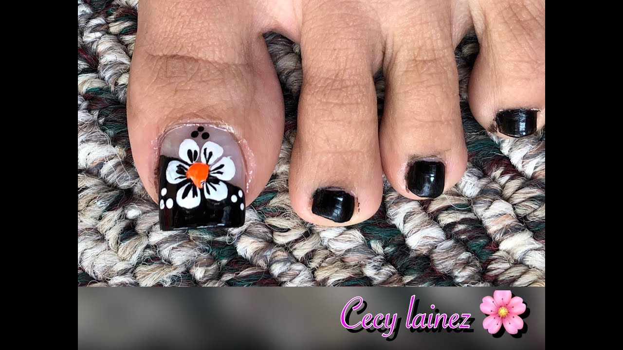 Unas Decoradas Para Pies Faciles De Hacer Cecy Lainez Youtube