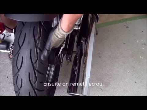 changement de pneus moto sur honda shadow youtube. Black Bedroom Furniture Sets. Home Design Ideas
