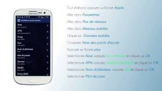 lycamobile France - Configuration de l'internet pour Samsung