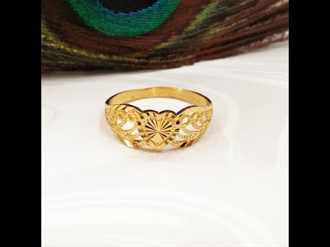 """GoldShine - Treasure For Generations"" 22K Solid Gold Rings"