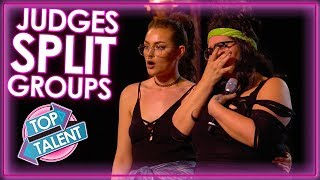 When Judges SPLIT Groups! X Factor UK | Top Talent