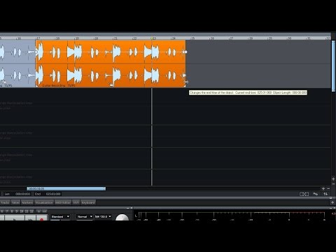 MAGIX Samplitude Music Studio 2016 – Editing tutorial (INT)