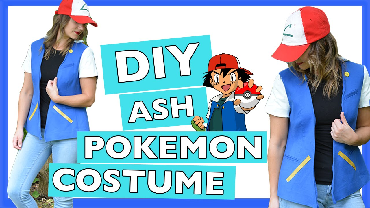 DIY Ash Pokemon Halloween Costume | Quick and Easy Tutorial - YouTube