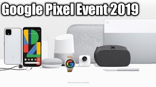 Watch Made by Google's 2019 launch event for Pixel 4, Pixelbook Go ,Nest Mini Livestream