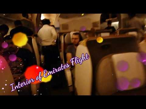My Journey in Emirates Flight ! AWESOME INTERIOR OF EMIRATES FLIGHT