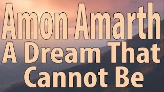 amon amarth a dream that cannot be instrumental cover