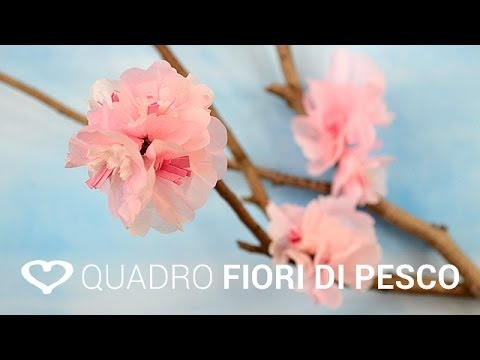 Tutorial Come Realizzare Un Quadro In 3d Con Fiori Di Pesco La Figurina