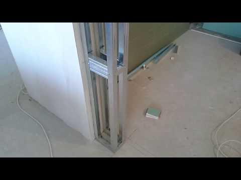 Как уменьшить дверной проем гипсокартоном видео