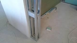 короб из гипсокартона для уменьшения дверного проема. Drywall install.
