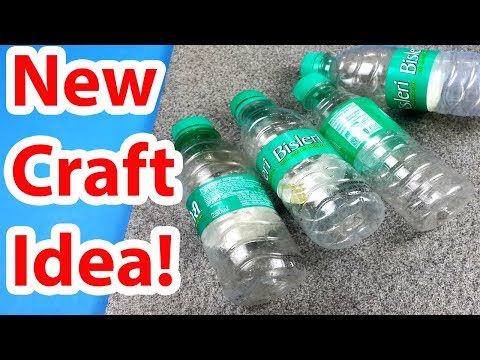 Amazing Craft from Bisleri Plastic Bottle Craft EASY! - Organiser Best out of waste Craft Project