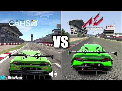 Project CARS 2 vs Assetto Corsa - Lamborghini Huracan GT3 @ Circuit Barcelona - Graphics comparison